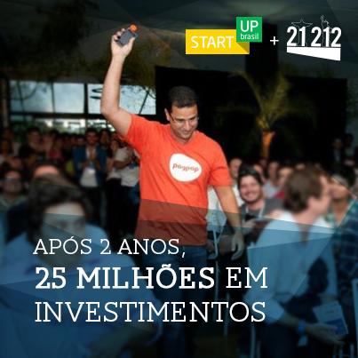 Márcio Campos, CEO da Pagpop, no Demo Day da 21212.